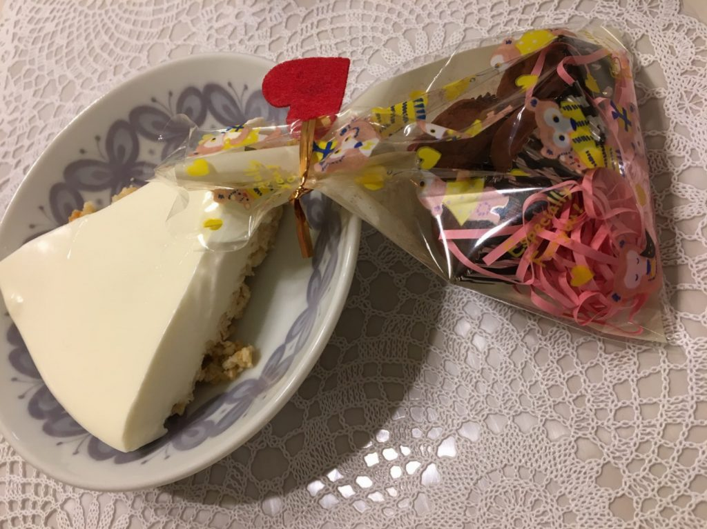 IMG 09351 e1487229576559 1024x767 - バレンタインで奥さんからチョコをもらいました♡あとチーズケーキも!